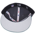 the under brim of the philadelphia eagles made in usa low crown fitted cap is gray