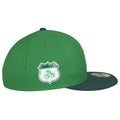on the right side of the new york yankees irish st. patrick's day fitted cap is the 3 leaf clover patch