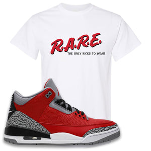 Jordan 3 Red Cement T-Shirt | White, Rare