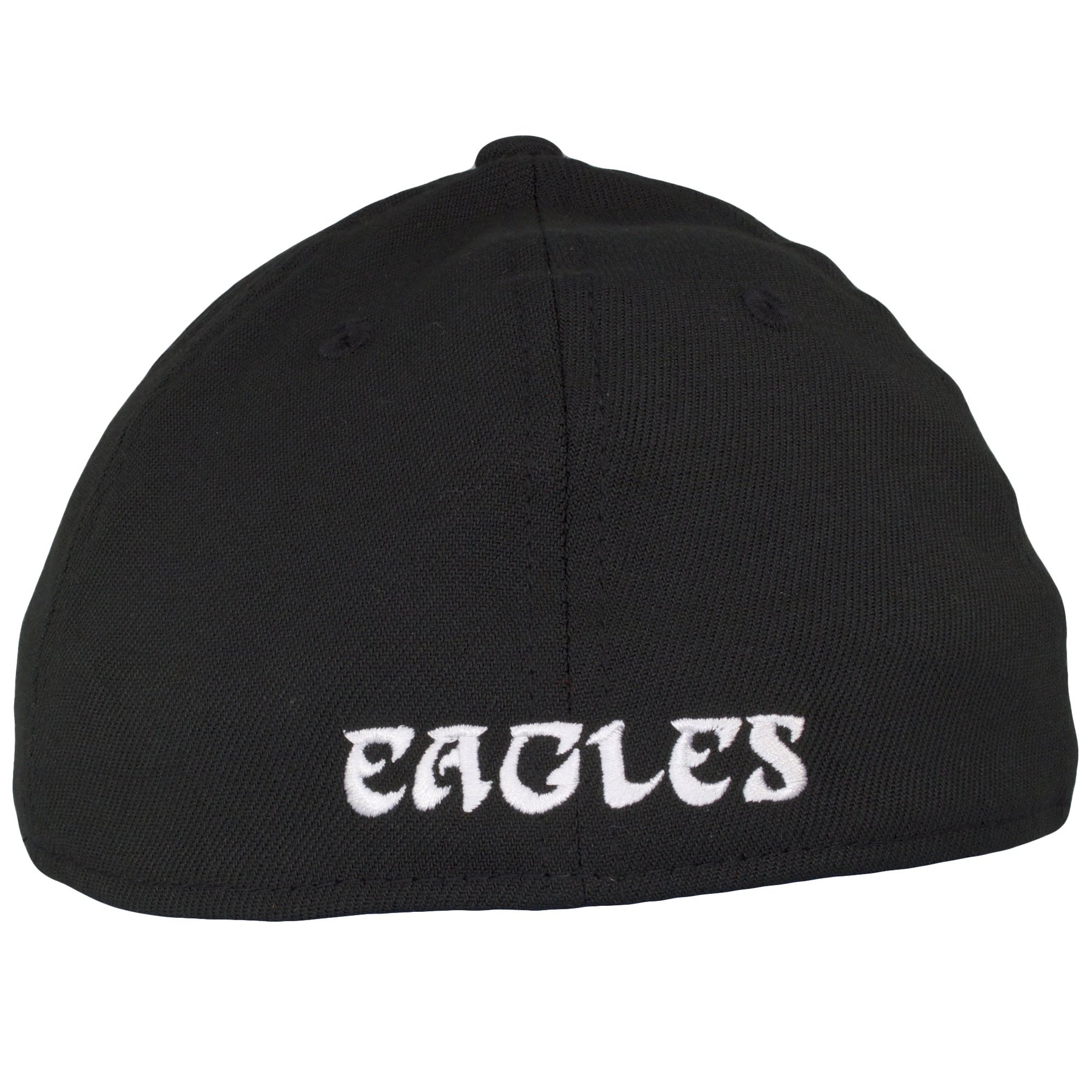 875203a9cc864 ... on the back of the Philadelphia Eagles stretch fit cap is the Eagles  wordmark embroidered in ...