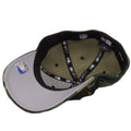 the under brim of the philadelphia eagles woodland camouflage stretch fit cap is gray