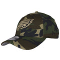 wearers left side of eagles camo flex fit hat  | Philadelphia eagles stretch fit camouflage flex hat 3930 new era cap