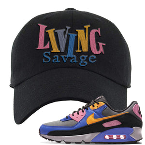Air Force 1 Low Daisy Dad Hat | Black, Living Savage