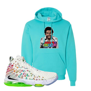 Lebron 17 Air Command Force Hoodie | Scuba Blue, Escobar Illustration