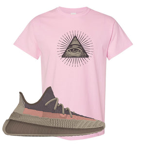 Yeezy 350 v2 Ash Stone T Shirt | All Seeing Eye, Light Pink