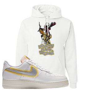 Air Force 1 Low 07 LX White Gold Hoodie | Don't Hate The Playa, White