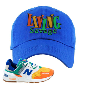 997S Multicolor Sneaker Royal Dad Hat | Hat to match New Balance 997S Multicolor Shoes | Living Savage