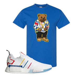 NMD R1 Olympic Pack T Shirt | Royal Blue, Sweater Bear