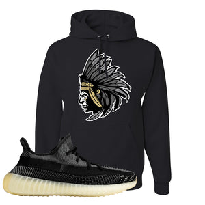 Yeezy Boost 350 v2 Carbon Hoodie | Indian Chief, Black