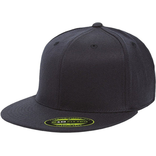 the navy flexfit flat brim stretch fit elastic fit fitted hat has a structunavy crown, flat brim, and is navy