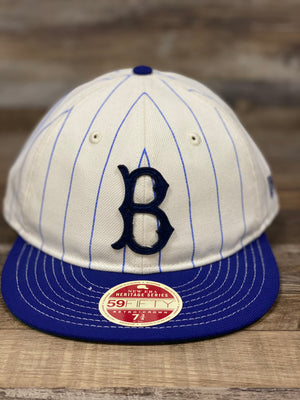 Brooklyn Dodgers Retro 5950 fitted hat |  on the front of the hat