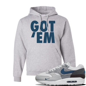 Air Max 1 'London City Pack' Sneaker Ash Pullover Hoodie | Hoodie to match Nike Air Max 1 'London City Pack' Shoes | Got Em