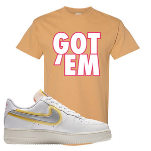 Air Force 1 Low 07 LX White Gold T Shirt | Got Em, Old Gold