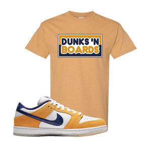 SB Dunk Low Laser Orange T Shirt | Old Gold, Dunks N Boards