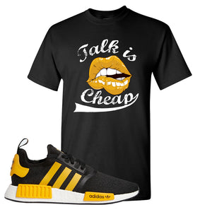 NMD R1 Active Gold T Shirt | Black, Talk is Cheap