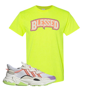 Ozweego Chaos T Shirt | Safety Green, Blessed Arch