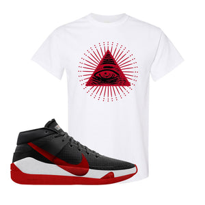 KD 13 Bred T-Shirt | All Seeing Eye, White
