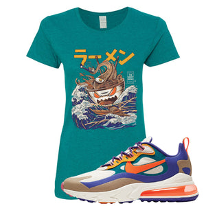 Air Max 270 React ACG Women's T-Shirt | Antique Jade, Ramen Monster