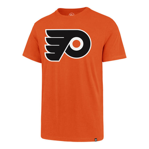 47 BRAND | TEE SHIRT | PHILADELPHIA FLYERS | IMPRINT SUPRE RIVAL NHL KICKOFF CREW NECK, ORANGE, Extra Large