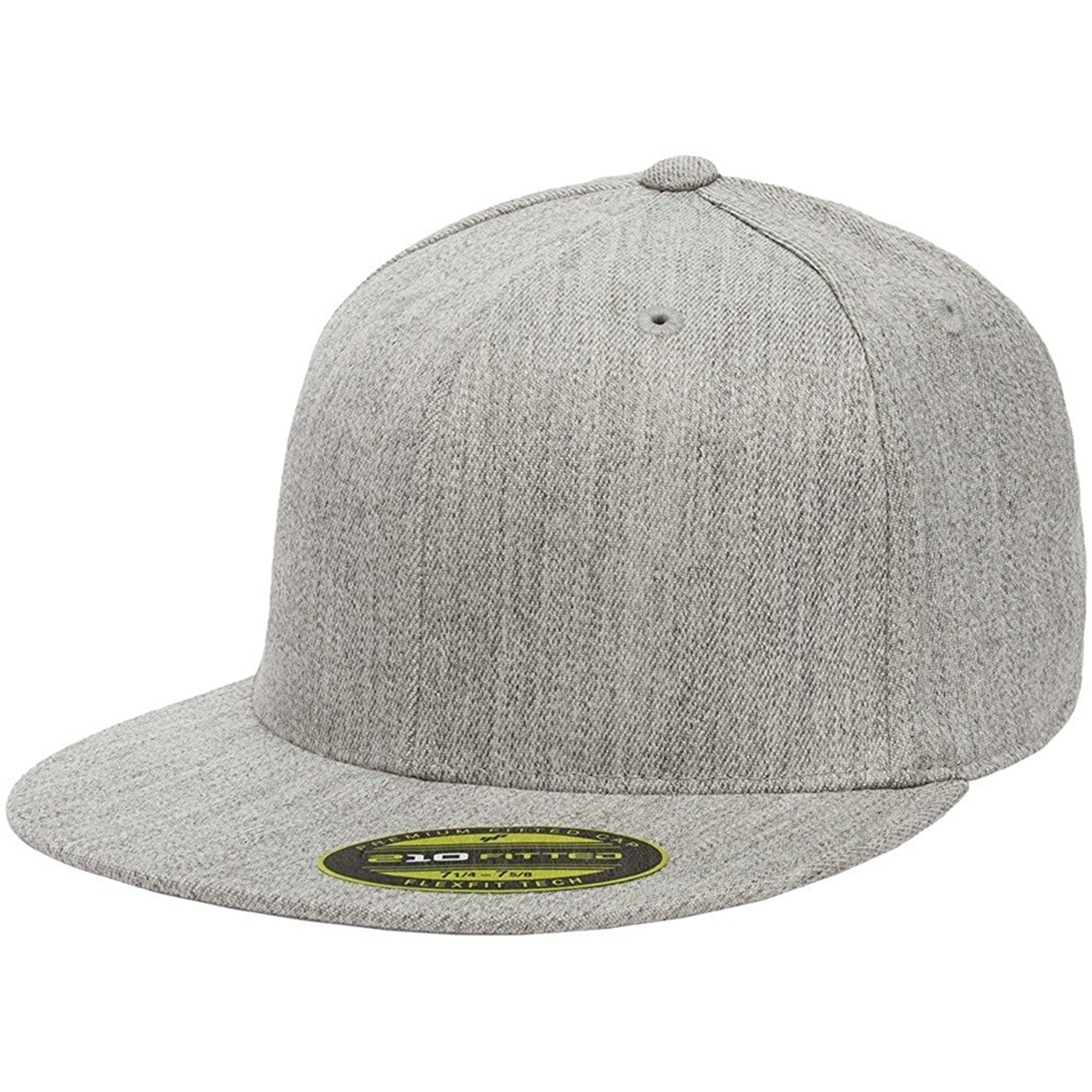 cf1965d4fd771 the heather gray flexfit flat brim stretch fit elastic fit fitted hat has a structured  crown
