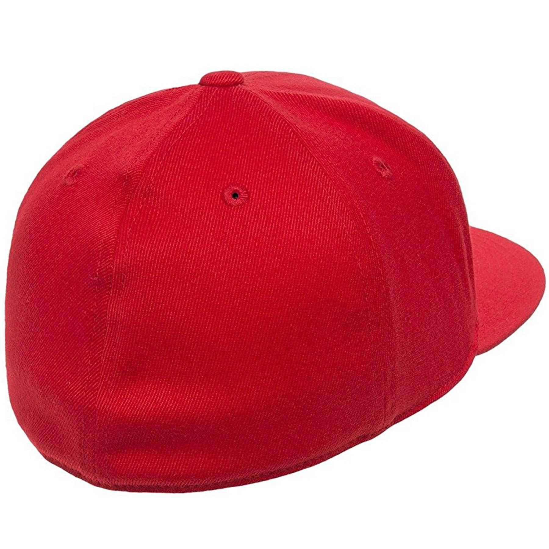 4aa538e2fec7c the red flexfit flat brim stretch fit elastic fit fitted hat has a structured  crown