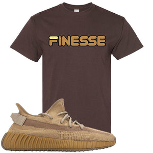 Yeezy Boost 350 V2 Earth Sneaker T-Shirt To Match | Finesse, Dark Chocolate