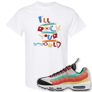 Air Max 95 Black History Month Sneaker White T Shirt | Tees to match Nike Air Max 95 Black History Month Shoes | I'll Rock Your World