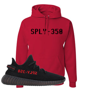 Yeezy 350 Boost V2 Bred Hoodie | Sply-350, Red