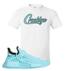Pharell x NMD Hu Aqua T Shirt | Crooklyn, White