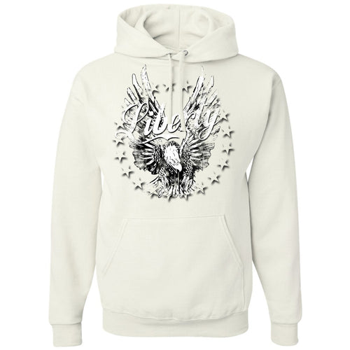 Standard Issue Distressed Liberty Bald Eagle White Pullover Grunt Life Hoodie