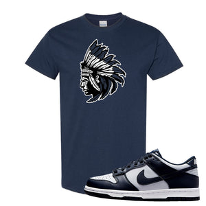 SB Dunk Low Georgetown T Shirt | Indian Chief, Navy Blue