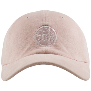 Philadelphia 76ers Micro Suede Pink Adjustable Baseball Cap
