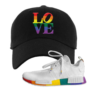 NMD R1 Pride Dad Hat | Black, Love Park