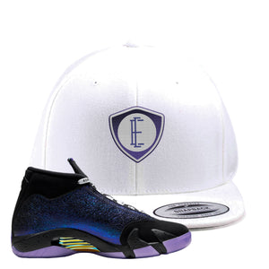 Jordan 14 Doernbecher E Shield White Sneaker Hook Up Snapback Hat
