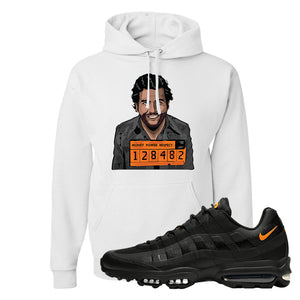 Air Max 95 Ultra Spooky Halloween Pullover Hoodie | Escobar Illustration, White