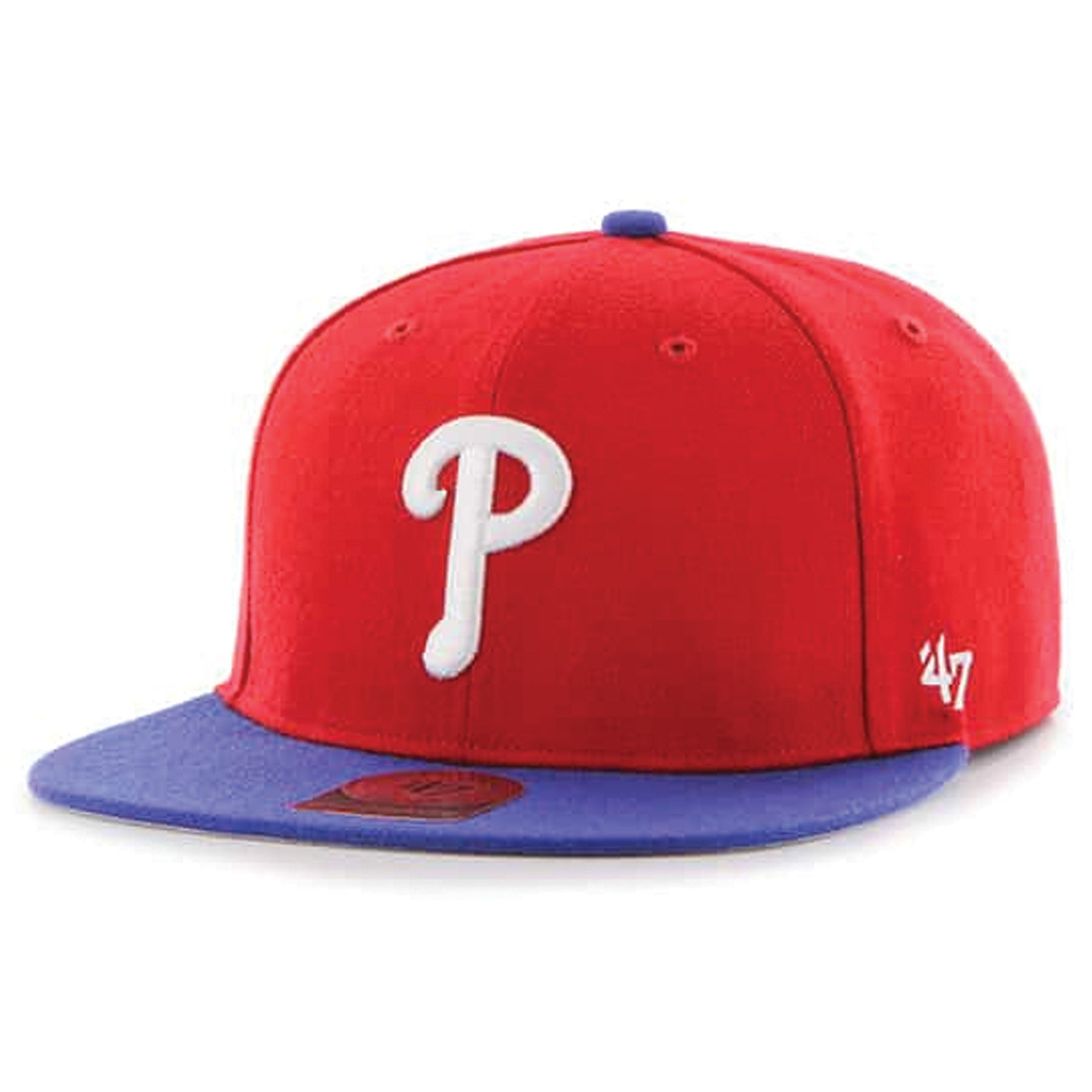 big sale 98e47 d094f Philadelphia Phillies Two Tone Red Blue Kid s Sized Snapback Hat