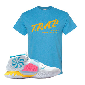 Kyrie 6 Blue Fury T Shirt | Heather Sapphire, Trap To Rise Above Poverty