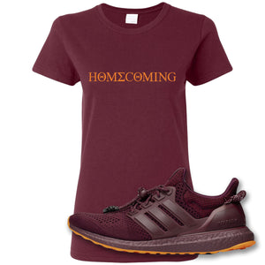 Homecoming Maroon Women's T-Shirt to match Ivy Park X Adidas Ultra Boost Sneaker