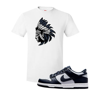 SB Dunk Low Georgetown T Shirt | Indian Chief, White