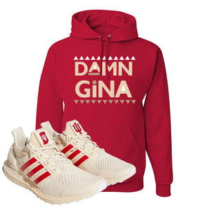 Adidas Ultra Boost 1.0 Indiana Pullover Hoodie | Damn Gina, Red