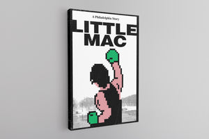 Philly Little Mac Canvas | Little Mac Philadelphia Story Black Wall Canvas the front of this canvas has the little mac story