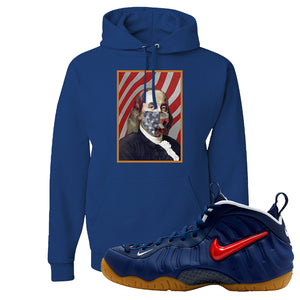 Air Foamposite Pro USA Hoodie | Royal Blue, Franklin Mask