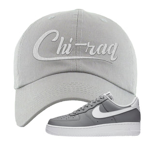 Air Force 1 Low Wolf Grey White Dad Hat | Light Gray, Chiraq