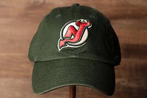Devils Dad Hat | New Jersey Devils Dark green Baseball Cap the front of this cap has the devils logo