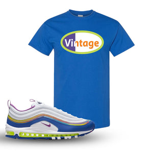 Air Max 97 'Easter' Sneaker Royal T Shirt | Tees to match Nike Air Max 97 'Easter'Shoes | Vintage Oval