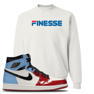 Air Jordan 1 Fearless Finesse White Made to Match Crewneck Sweatshirt