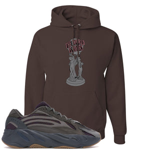 Yeezy Boost 700 Geode Sneaker Hook Up The World Is Yours Brown Hoodie