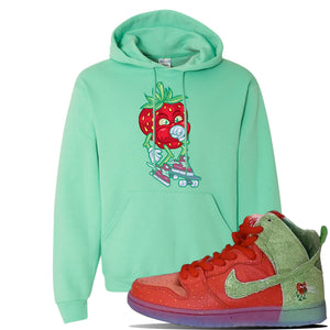 SB Dunk High 'Strawberry Cough' Hoodie | Cool Mint, Coughing Berry
