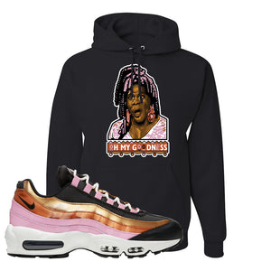 Air Max 95 WMNS Copper and Gold Pullover Hoodie | Oh My Goodness, Black
