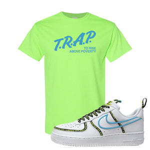 Air Force 1 '07 PRM 'Worldwide Pack' T Shirt | Neon Green, Trap To Rise Above Poverty